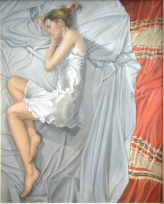 Girl on an Unmade Bed