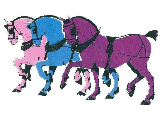 Print by Rosie Sheldrake of horses