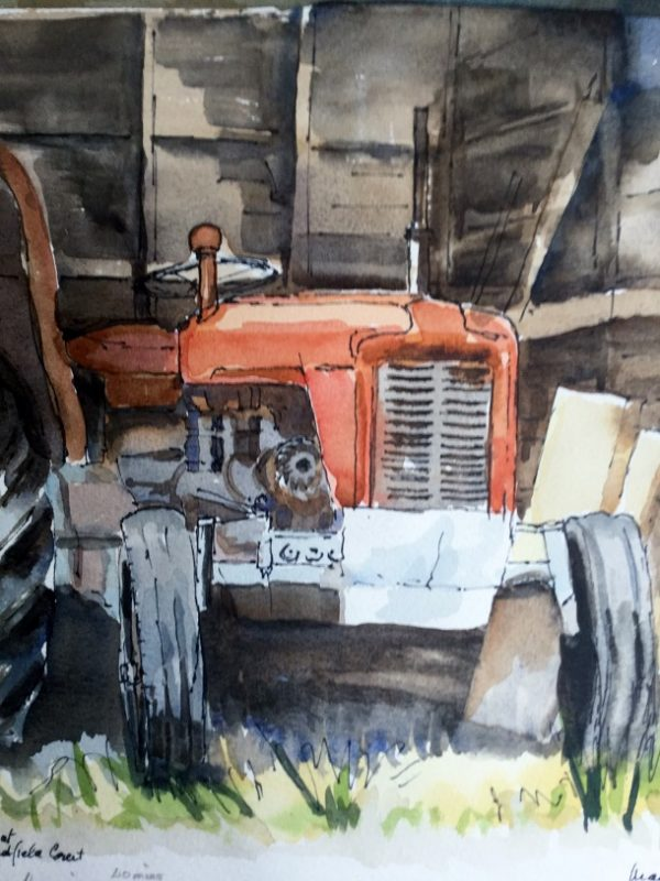 Martin Richards painting of tractor