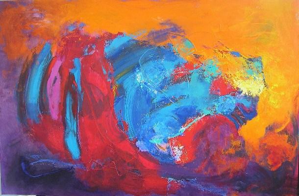 Stella Hidden painting abstract