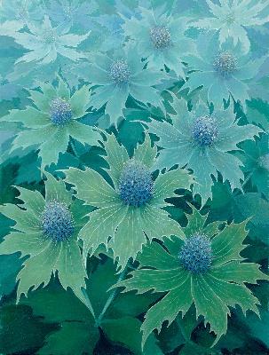 Alsion Barter painting eryngium giganteum