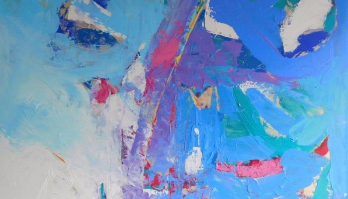 Creative Chord, Acrylic on Birch Board, 80 x 90 cm